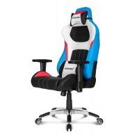 Геймерское кресло Akracing Premium V2 K909A black white red blue